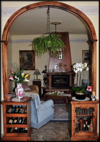 Dining Room Arch Wine Cabinets